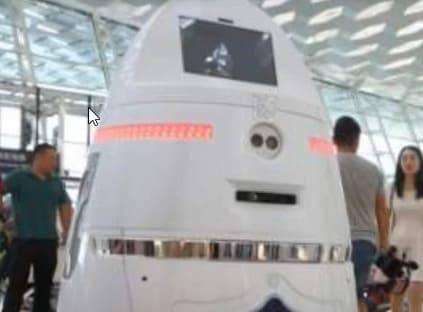 El robot vigilante Anbot que se quiere usar en colegios y bancos