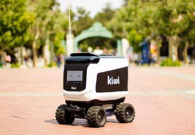 Llama a Kiwibot para que te lleva la comida a tu vivienda